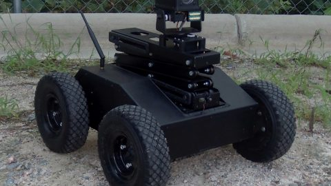 New 4WD Tactical Scissor Lift Robot with PTZ Camera