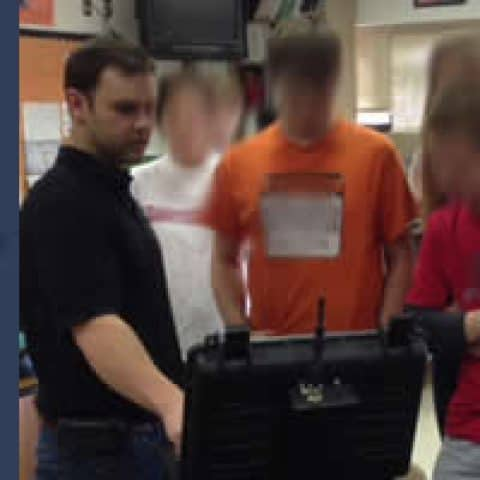 SuperDroid Robots goes to Local Fuquay-Varina High School