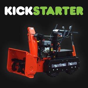 kickstarter robot snow blower
