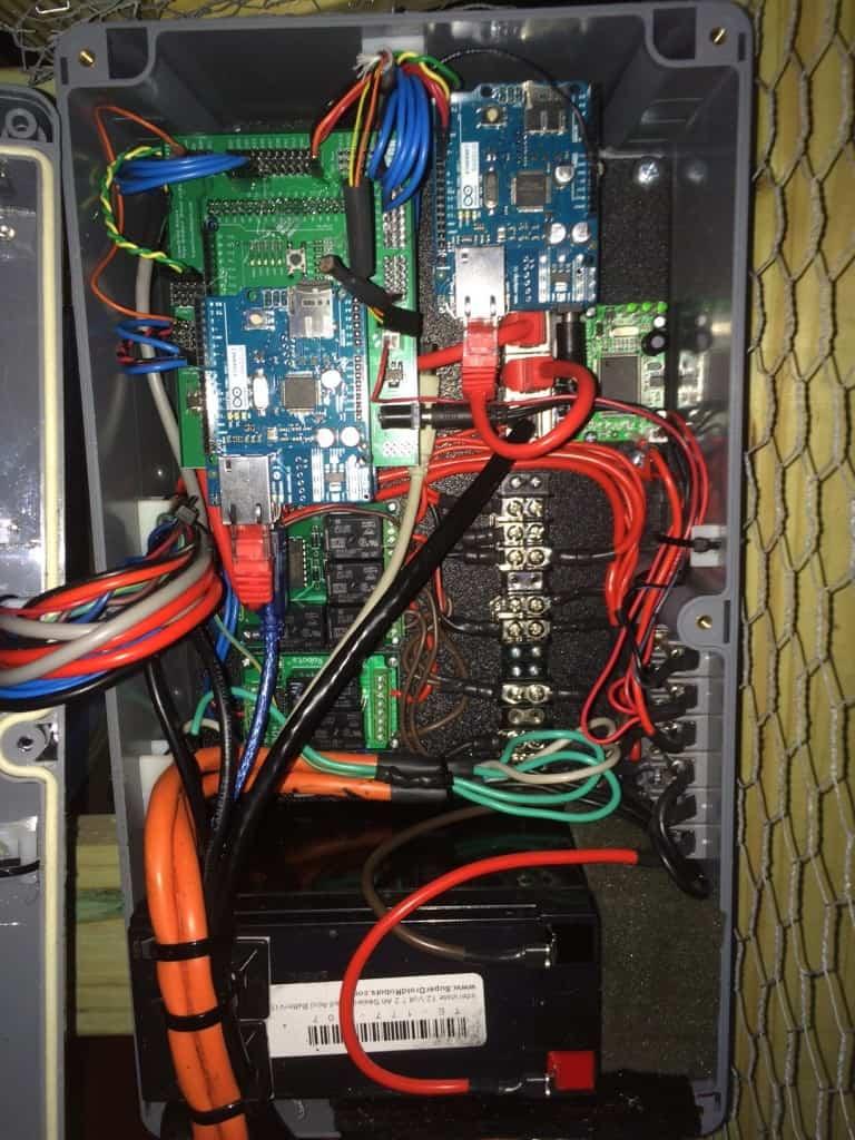chicken-coop main controls layout