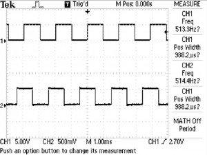 Oscilloscope Screen Capture
