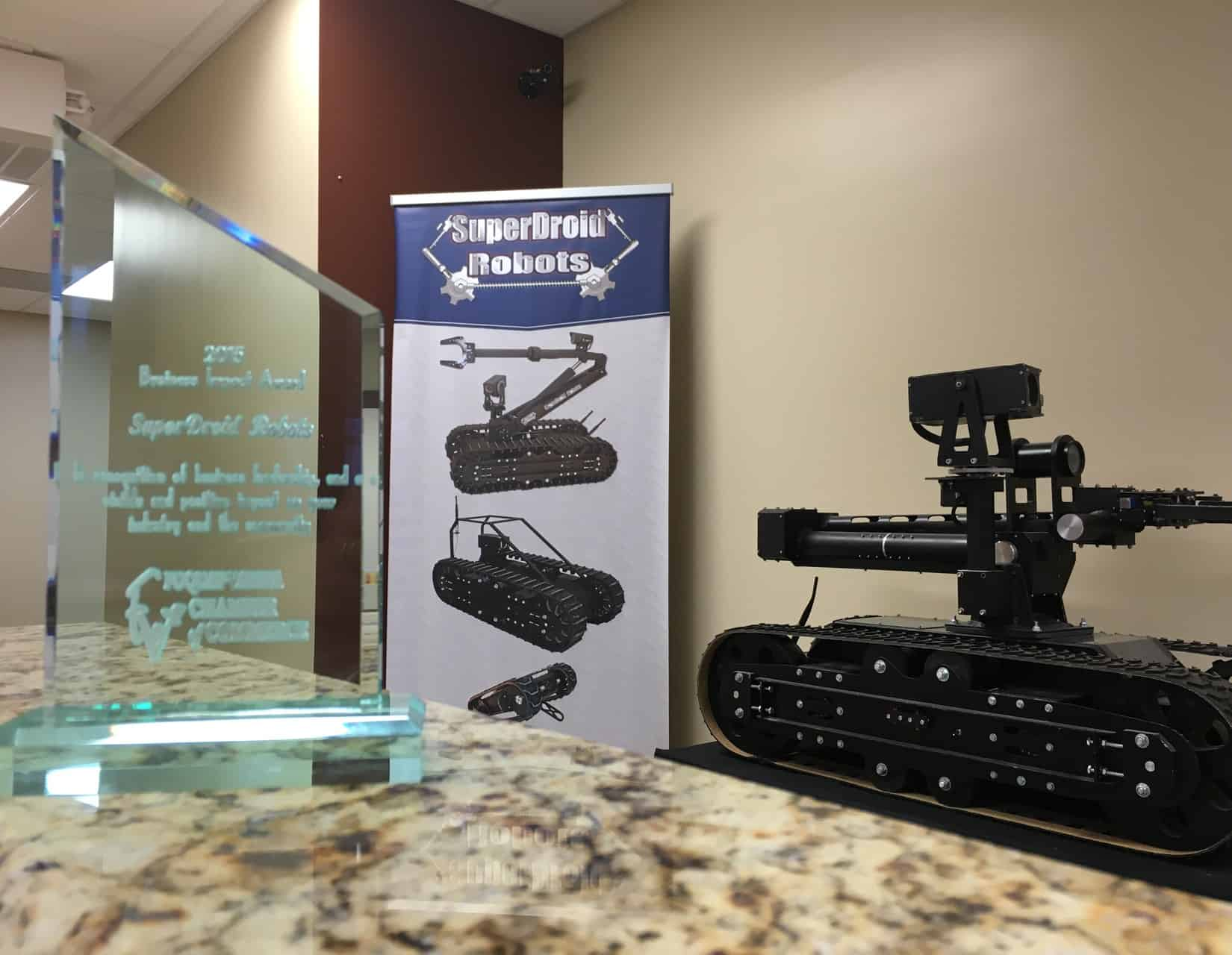 SuperDroid Robots receives Business Impact Award
