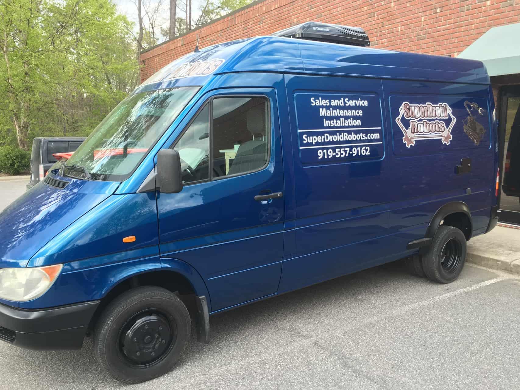 SuperDroid Robots new Service Van