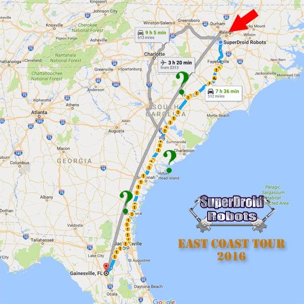East Coast Tour 2016