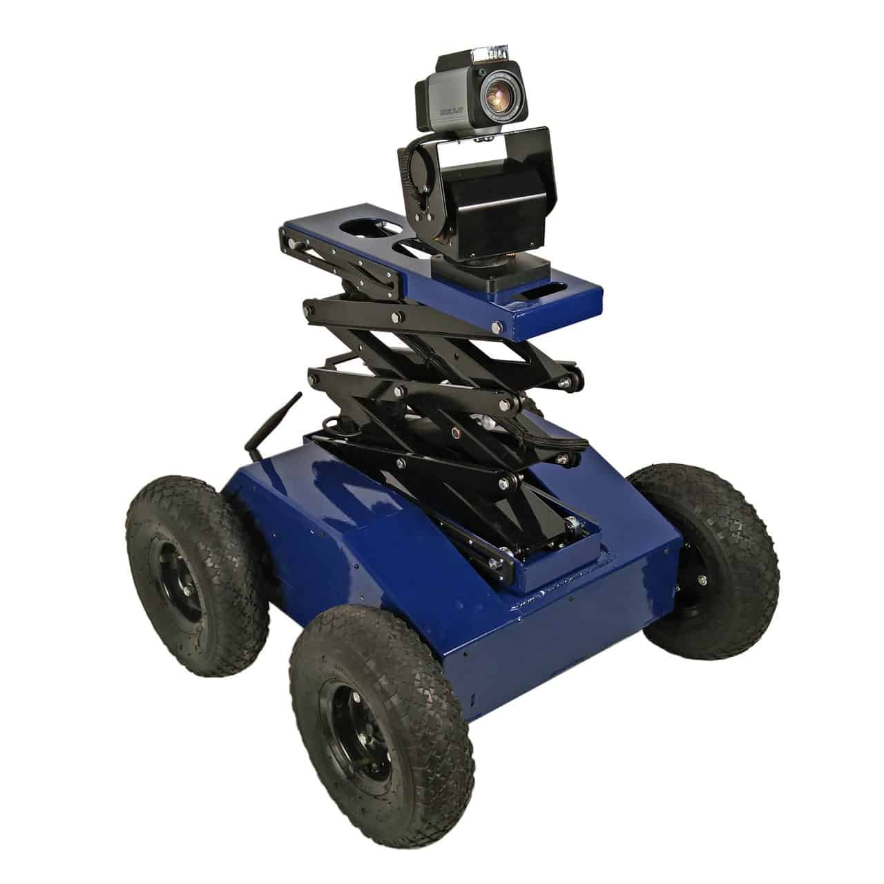 PTW-42-L 4WD Inspection and Surveillance Robot with Scissor Lift and PTZ Camera