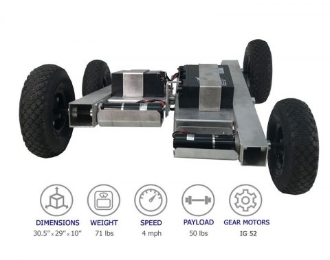 NEW 4WD Robot With Center Pivot Chassis