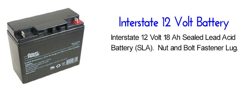 Interstate Battery 12 Volt SuperDroid Robots