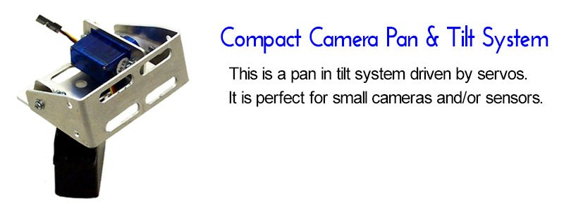 Compact camera pan and tilt system