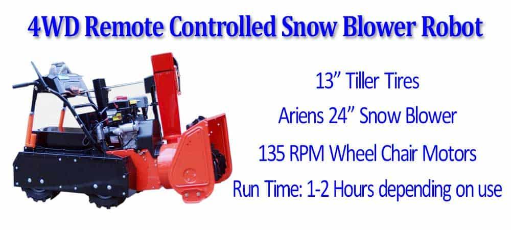 SuperDroid Robots 6WD Snow Plow Robot