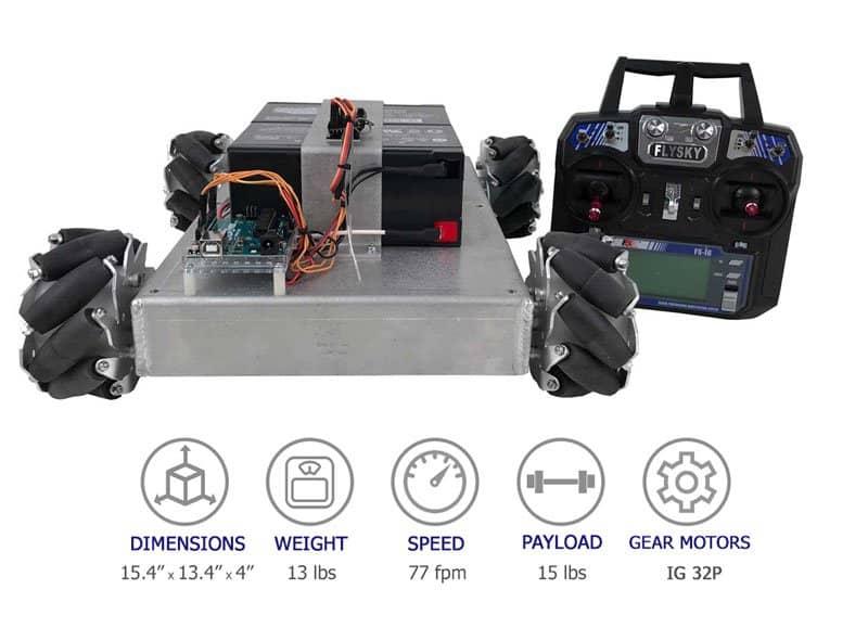 SuperDroid Robots Mecanum Vectoring Robot