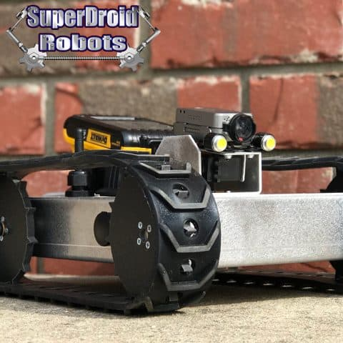 Optional Top-Mounted Removable Battery  Available on Wireless Inspection Robot